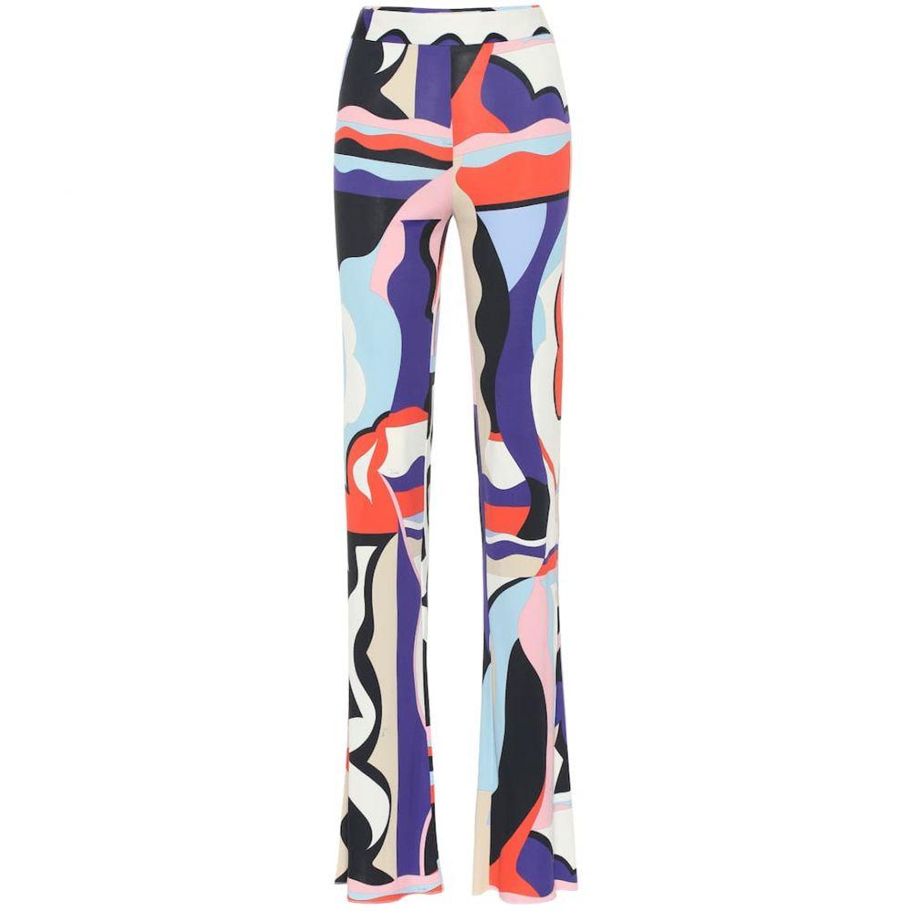 エミリオ プッチ Emilio Pucci レディース ボトムス・パンツ【Printed silk-blend jersey pants】Viola/Corallo