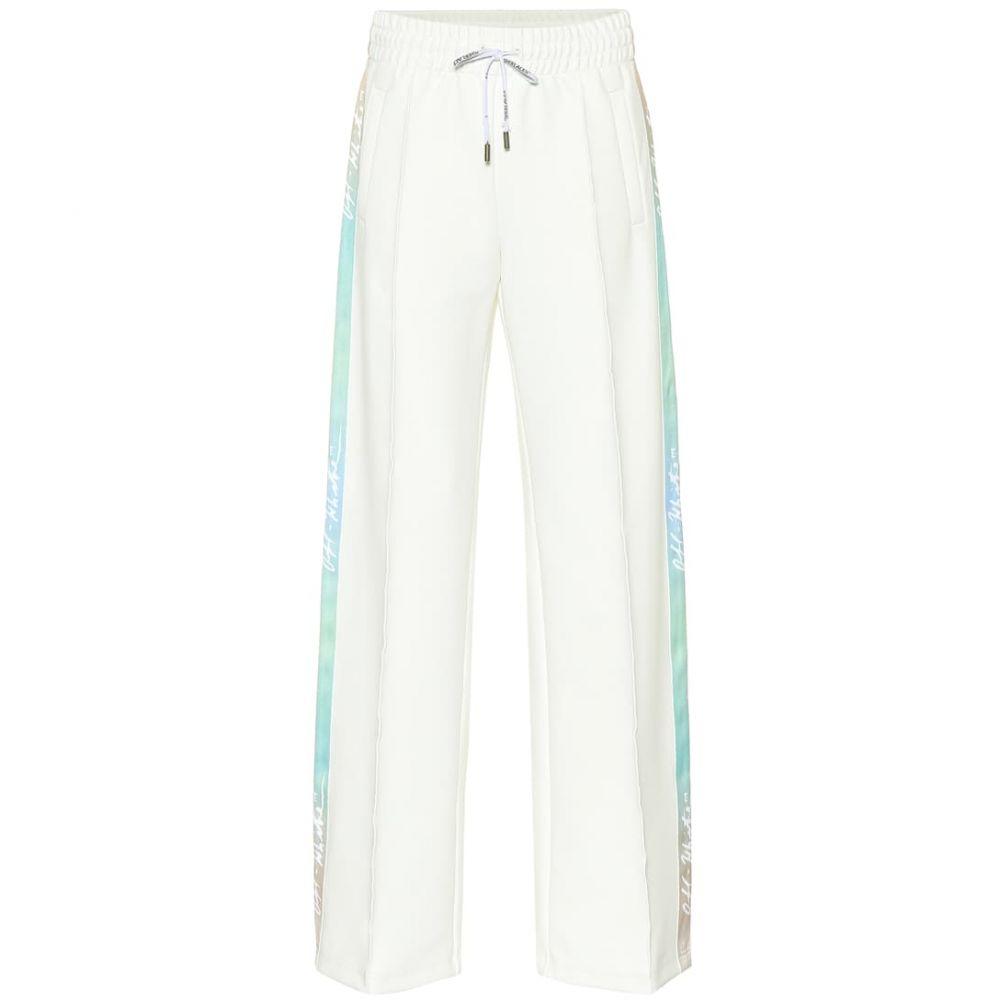 オフ-ホワイト Off-White レディース ボトムス・パンツ スウェット・ジャージ【Wide-leg tackpants】white
