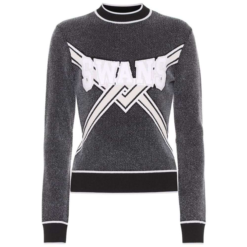 オフ-ホワイト レディース トップス ニット・セーター 【サイズ交換無料】 オフ-ホワイト Off-White レディース トップス ニット・セーター【Embroidered sweater】Black