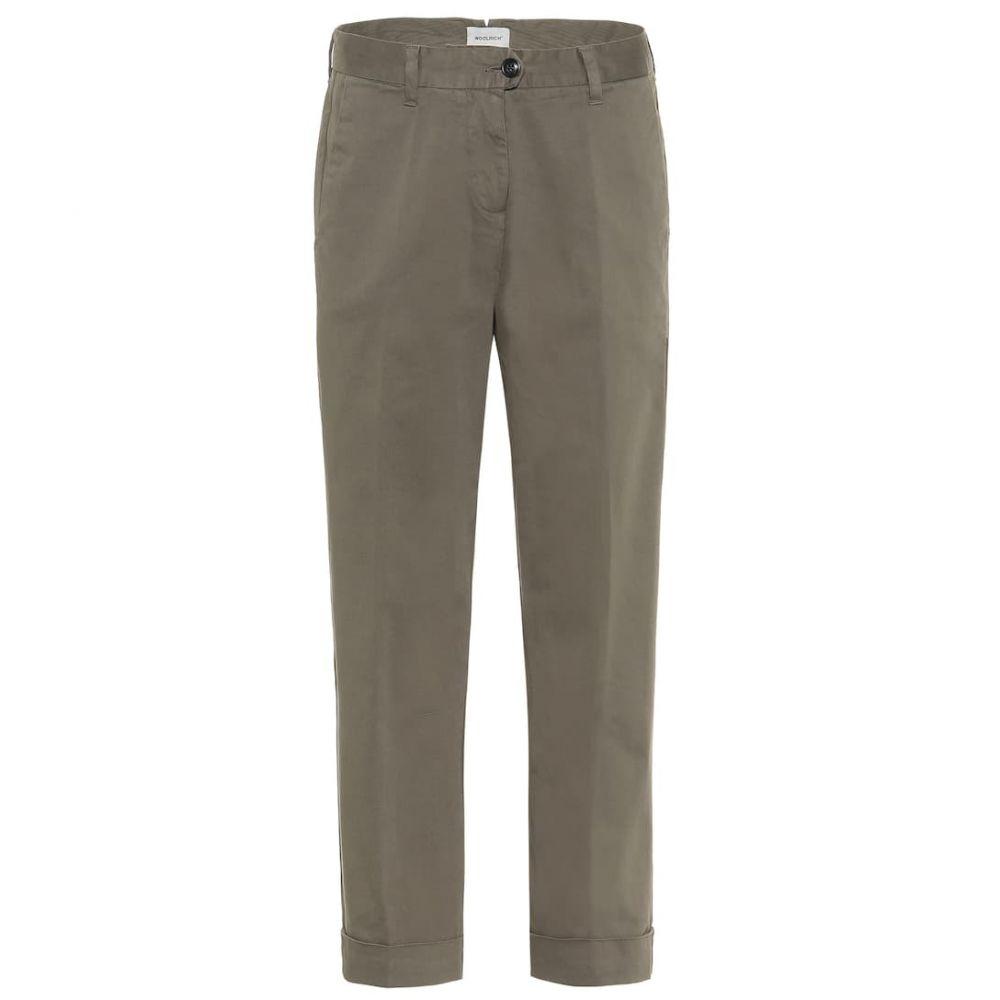 ウールリッチ Woolrich レディース ボトムス・パンツ【Stretch-cotton mid-rise pants】army olive
