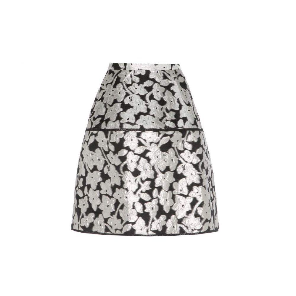 オスカー デ ラ レンタ Oscar de la Renta レディース スカート【Metallic jacquard skirt】Black/Silver