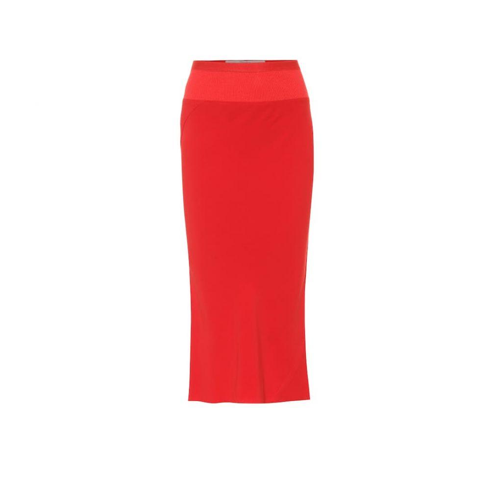 リック オウエンス Rick Owens レディース スカート ひざ丈スカート【Pencil midi skirt】Cardinal Red
