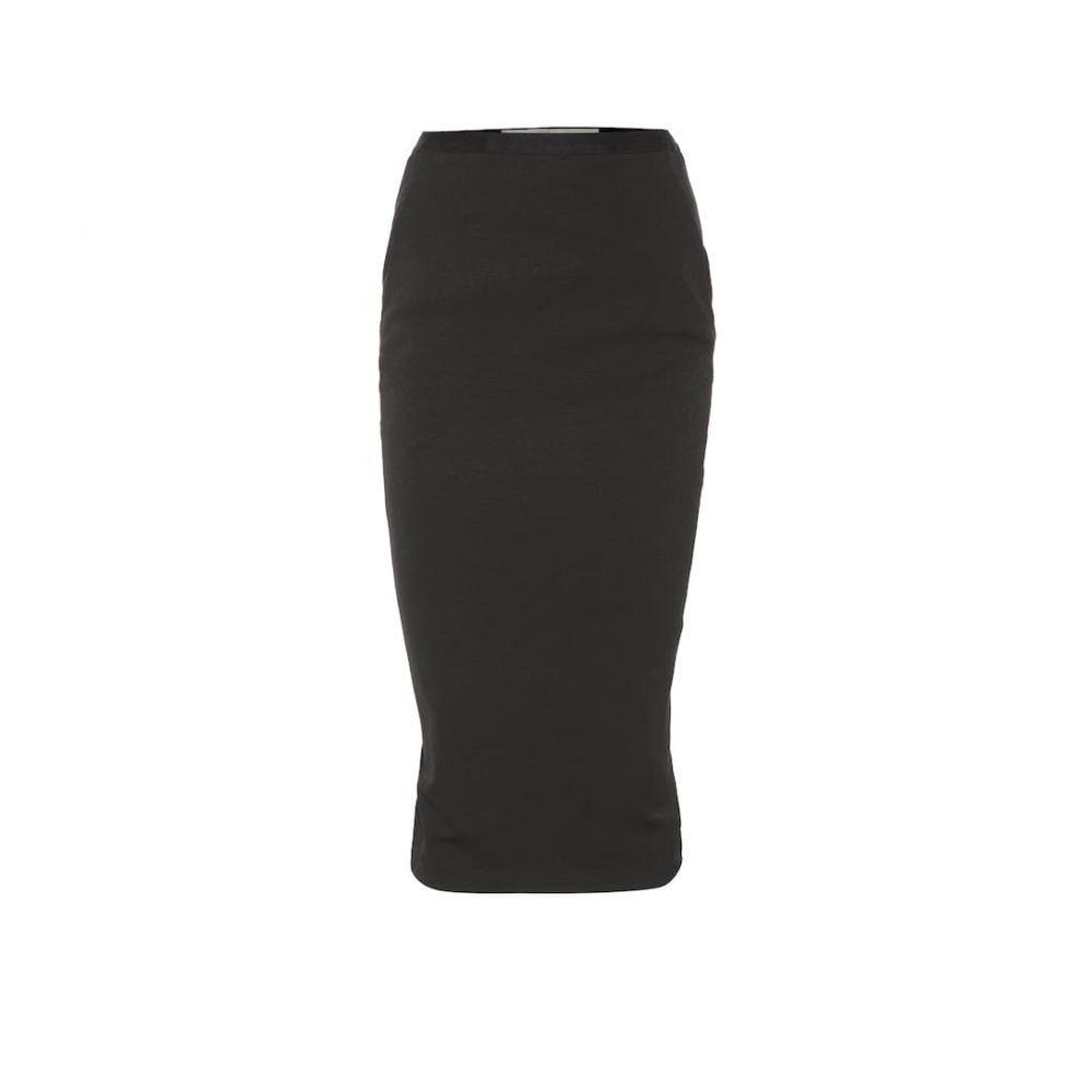 リック オウエンス Rick Owens レディース スカート ひざ丈スカート【Soft Pillar cotton-blend skirt】Black