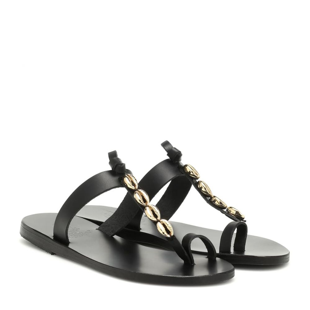 エンシェント グリーク サンダルズ Ancient Greek Sandals レディース シューズ・靴 サンダル・ミュール【Iris Shells leather sandals】Black