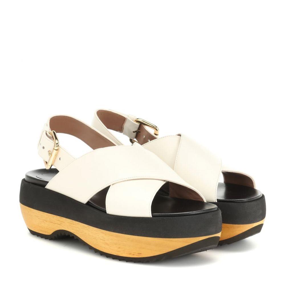 マルニ Marni レディース シューズ・靴 サンダル・ミュール【Platform leather sandals】