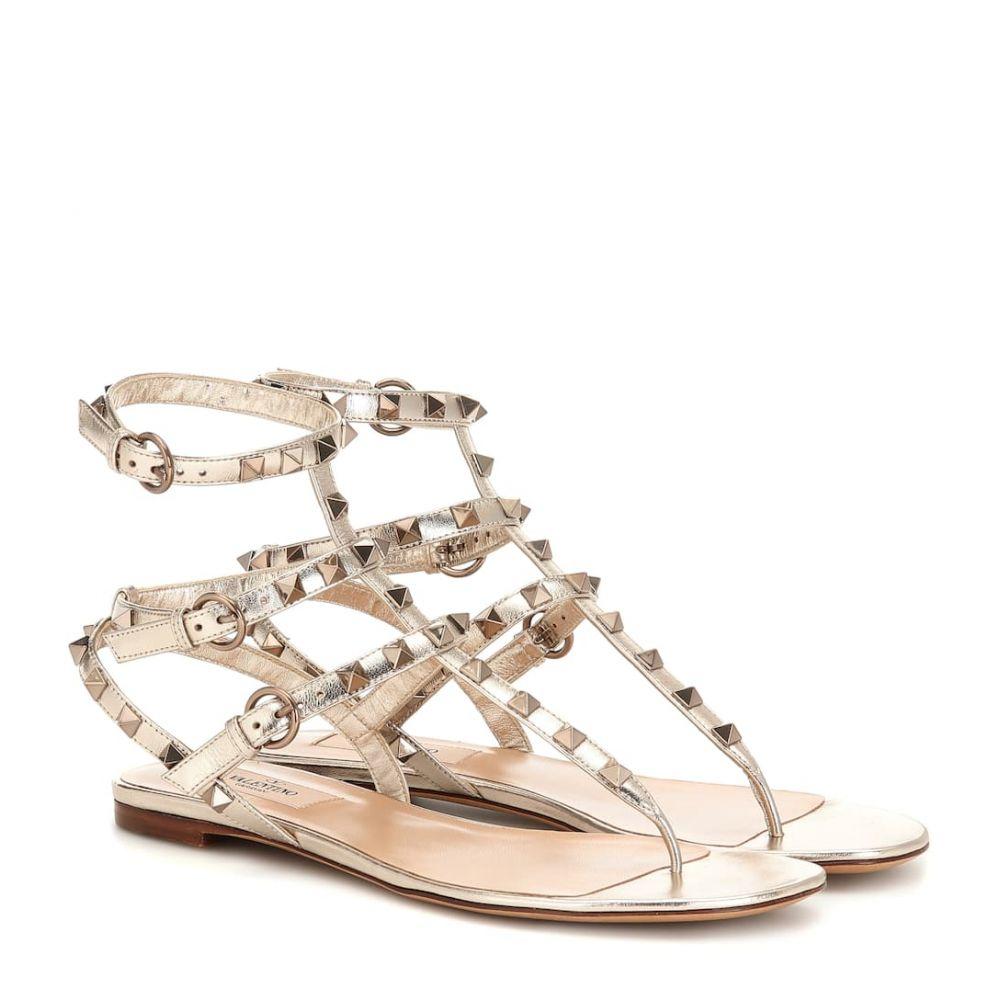 ヴァレンティノ Valentino レディース シューズ・靴 サンダル・ミュール【Garavani Rockstud leather sandals】Skin