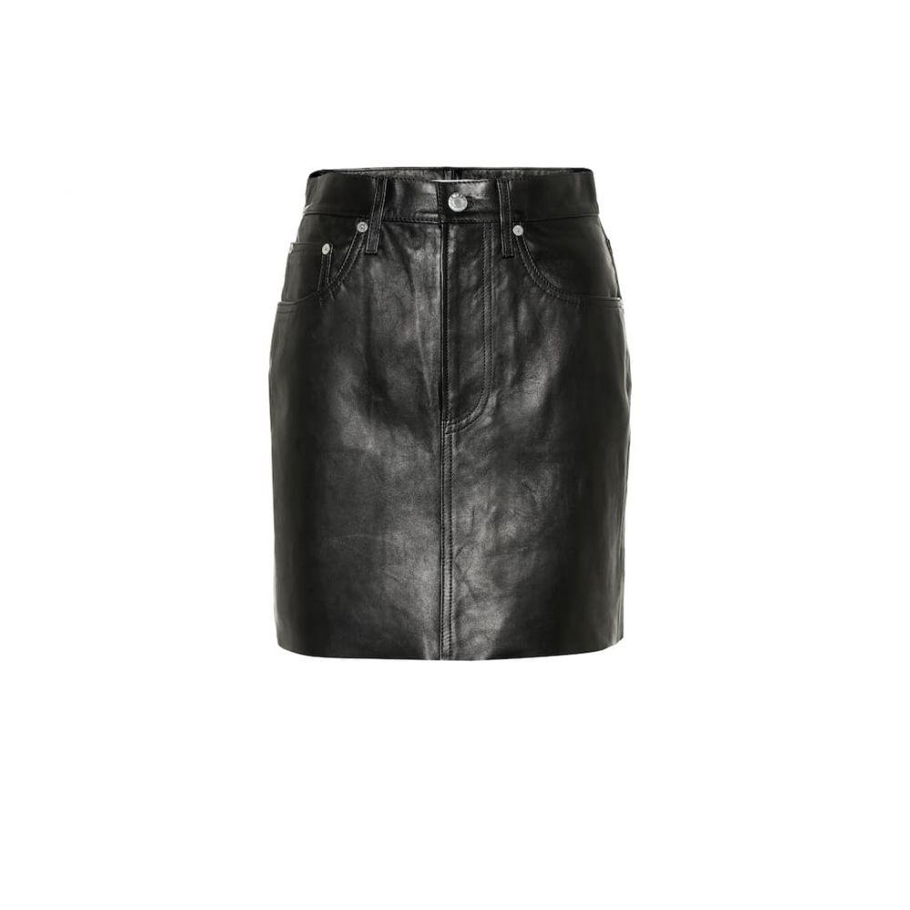 ヘルムート ラング Helmut Lang レディース スカート ミニスカート【Leather miniskirt】Deep Ink