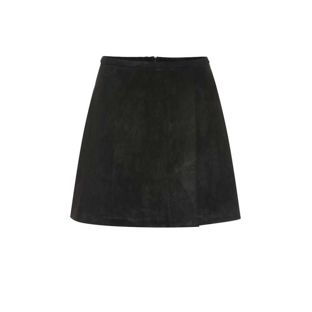 ストールス Stouls レディース スカート ミニスカート【Santa suede miniskirt】Black