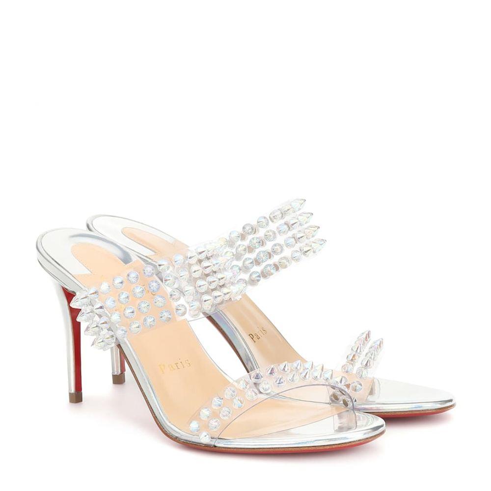 クリスチャン ルブタン Christian Louboutin レディース シューズ・靴 サンダル・ミュール【Spikes Only 85 sandals】silver/clear