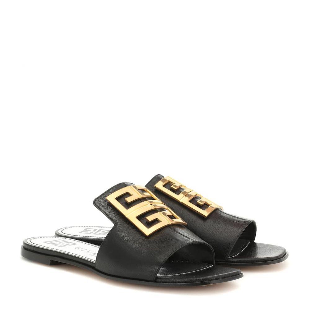 ジバンシー Givenchy レディース シューズ・靴 サンダル・ミュール【4G leather sandals】Black