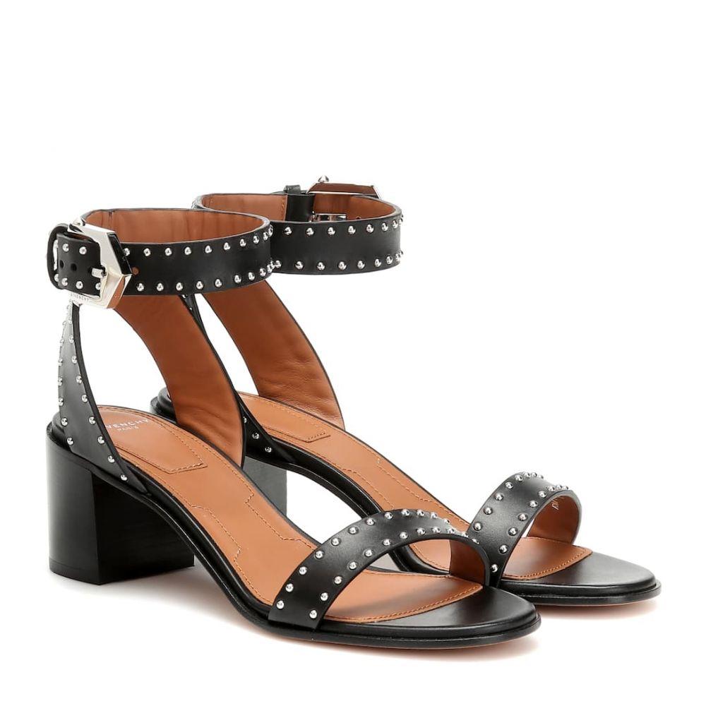ジバンシー Givenchy レディース シューズ・靴 サンダル・ミュール【Elegant 60 studded leather sandals】Black