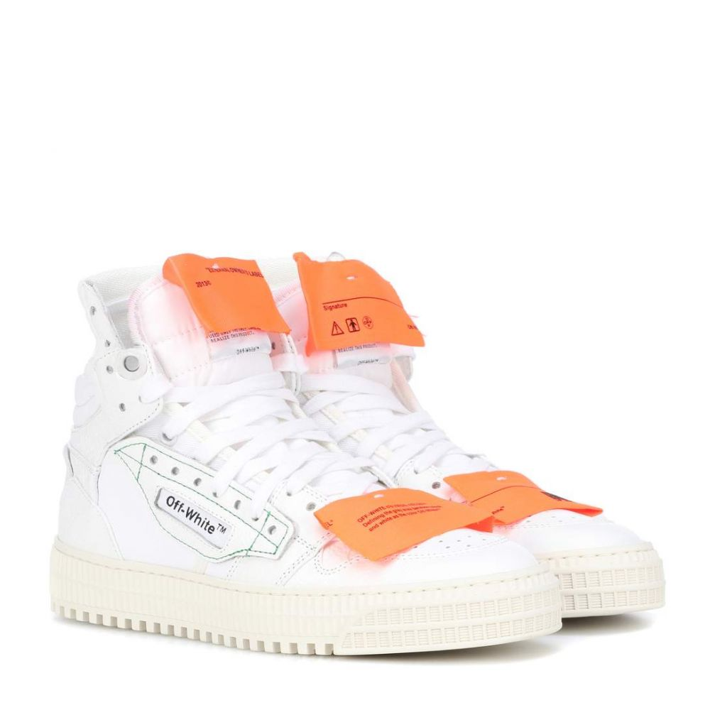 オフ-ホワイト Off-White レディース シューズ・靴 スニーカー【Leather sneakers】White