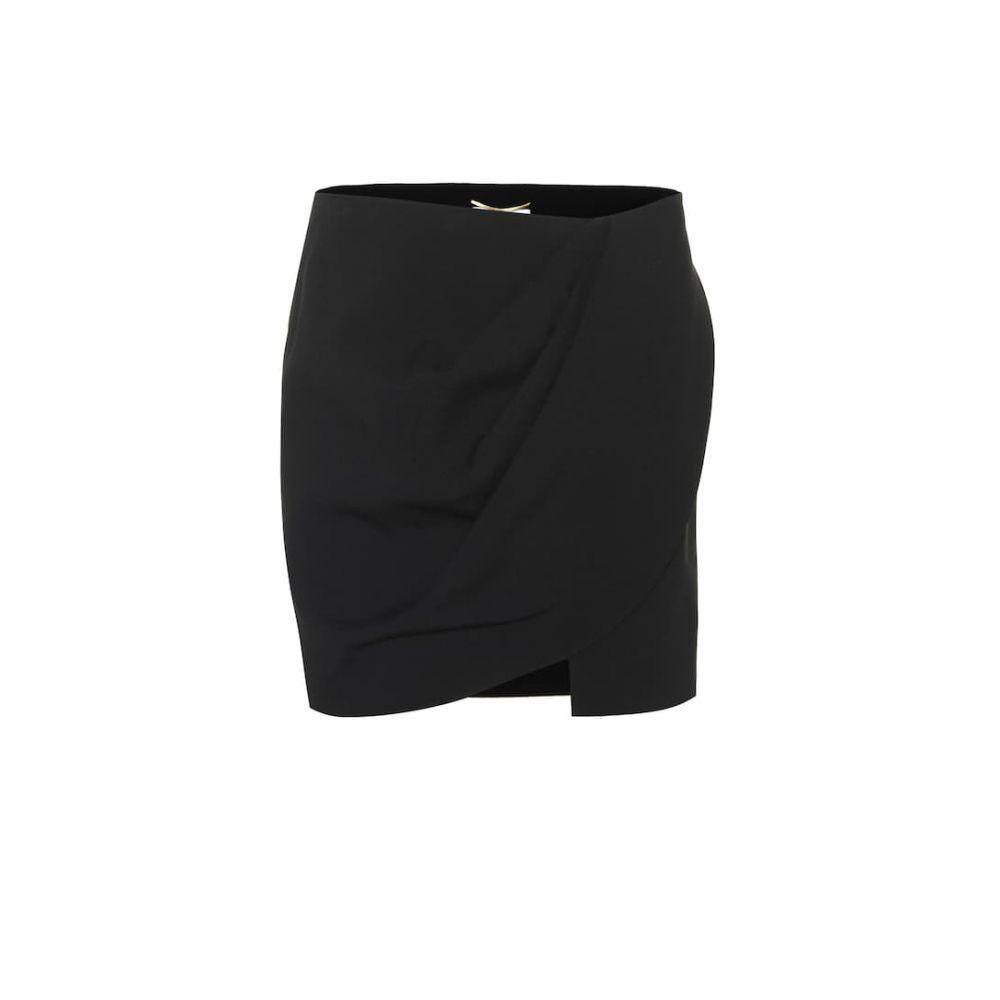 イヴ サンローラン Saint Laurent レディース スカート ミニスカート【Crepe miniskirt】Noir