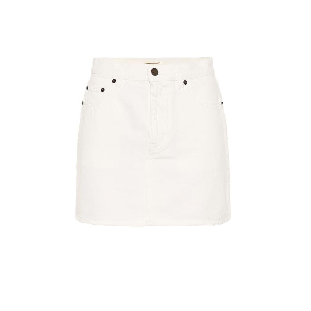 イヴ サンローラン Saint Laurent レディース スカート ミニスカート【Denim miniskirt】White Stonewash