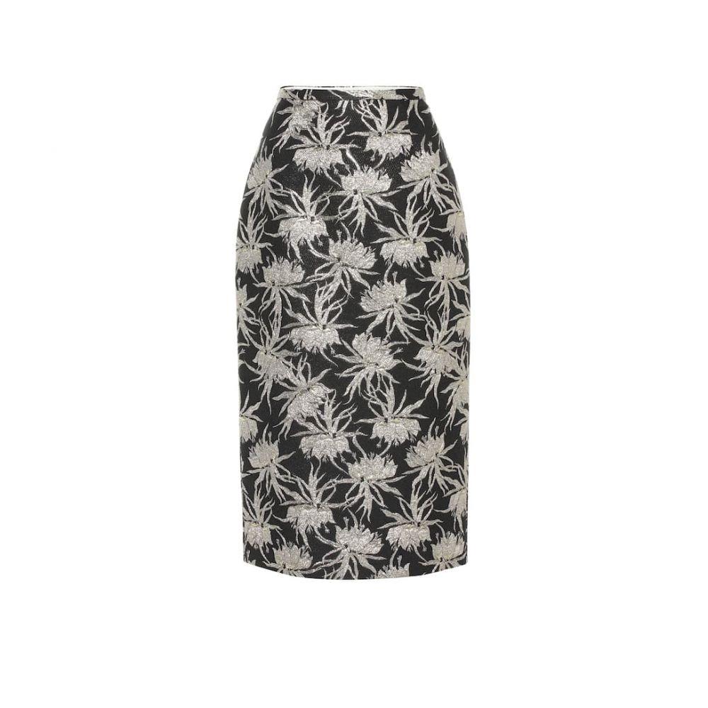 ロシャス Rochas レディース スカート ひざ丈スカート【Oncidium floral pencil skirt】Black