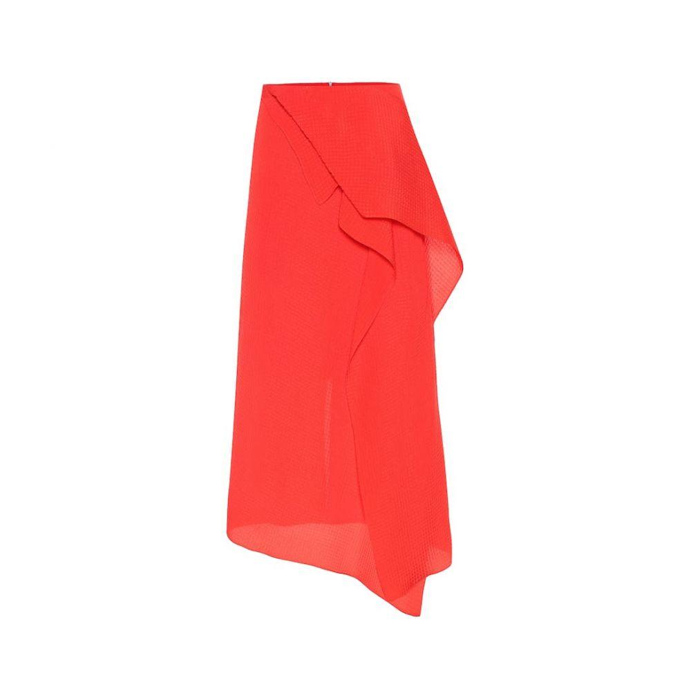 ローラン ムレ Roland Mouret レディース スカート ひざ丈スカート【Courtown silk jacquard midi skirt】Bright Red