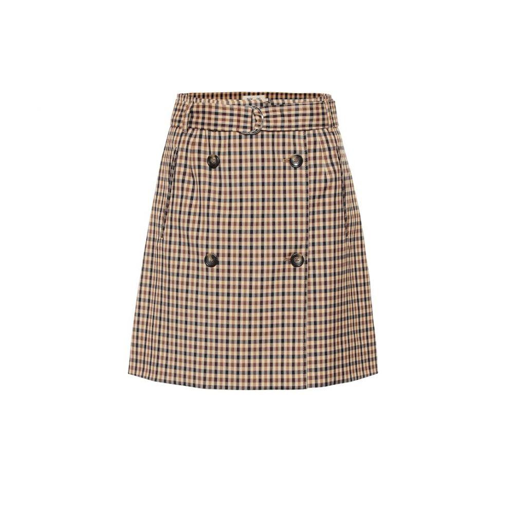 バウム ウンド ヘルガーデン Baum und Pferdgarten レディース スカート ミニスカート【Stacia checked miniskirt】Nougat Check