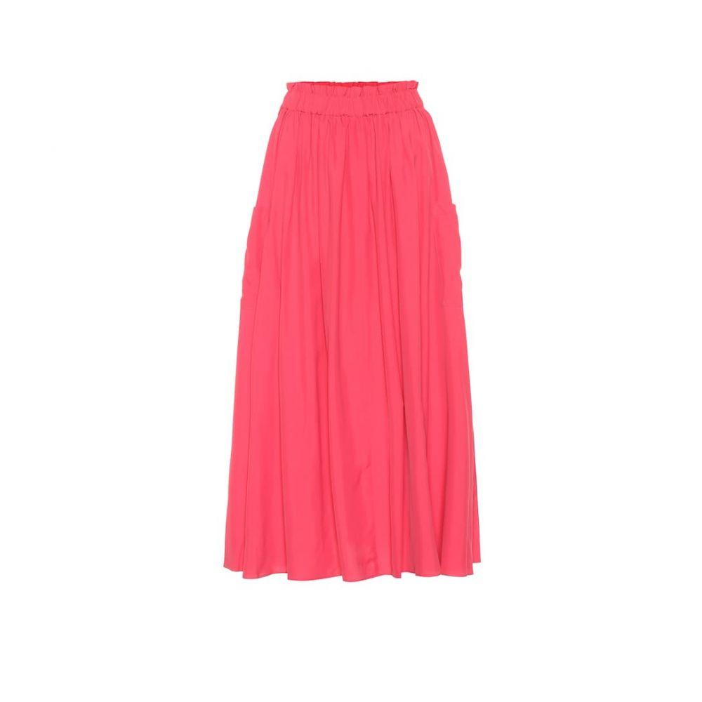 コー Co レディース スカート ひざ丈スカート【High-rise midi skirt】Azalea Pink