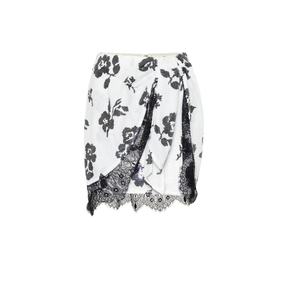 セルフ ポートレイト Self-Portrait レディース スカート ミニスカート【Floral sequined miniskirt】Ivory Navy
