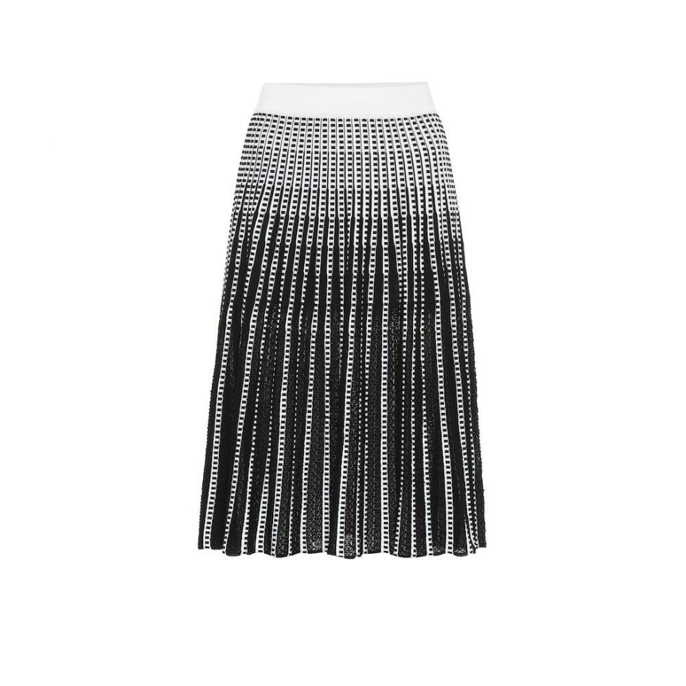 ジョナサン シンカイ Jonathan Simkhai レディース スカート ひざ丈スカート【Striped stretch-knit midi skirt】Black White