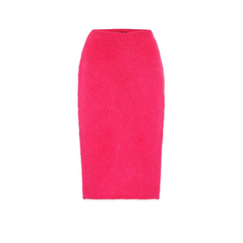 ヴェルサーチ Versace レディース スカート ひざ丈スカート【Mohair-blend pencil skirt】Fuxia