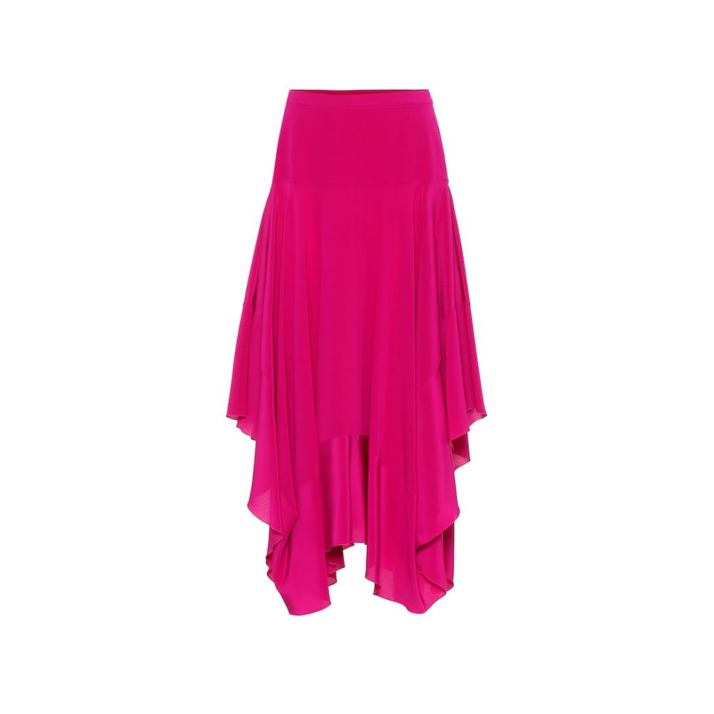 ステラ マッカートニー Stella McCartney レディース スカート ひざ丈スカート【Poppy silk crepe de chine skirt】Purple