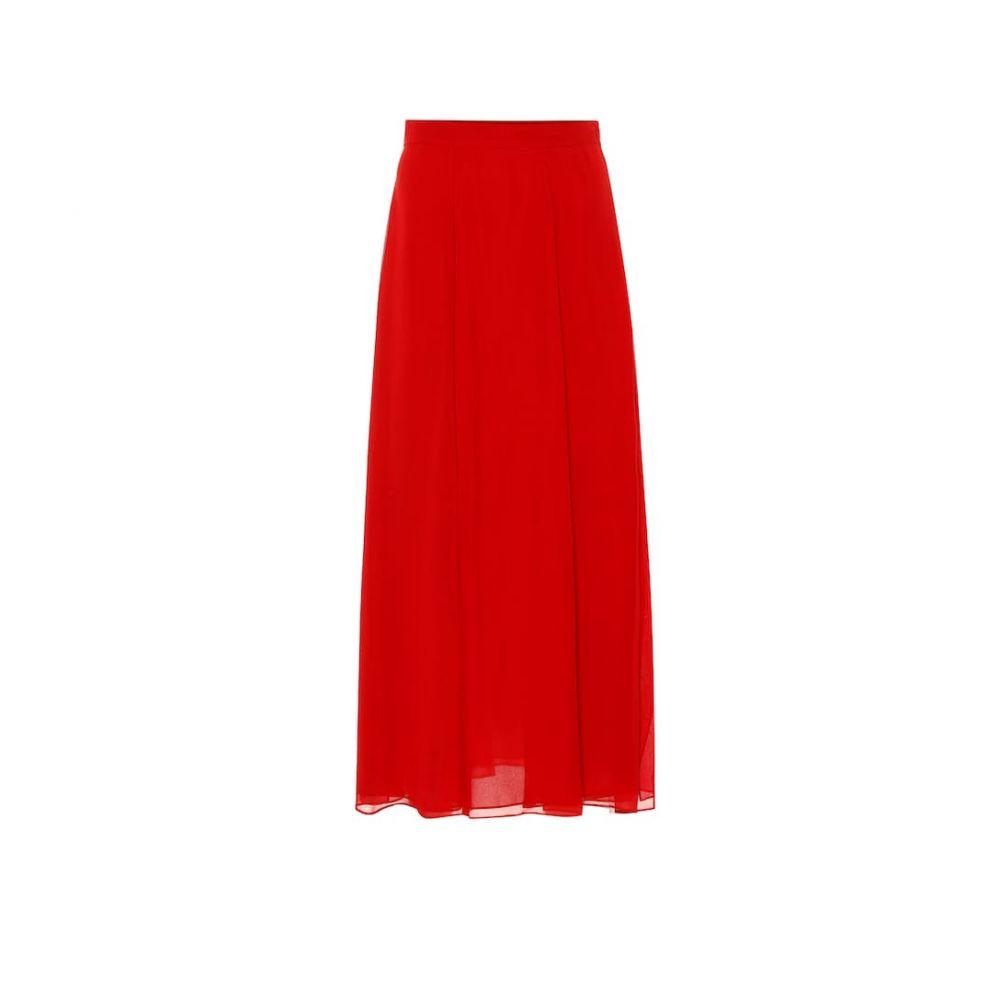 マックスマーラ Max Mara レディース スカート ひざ丈スカート【Margie silk-chiffon midi skirt】