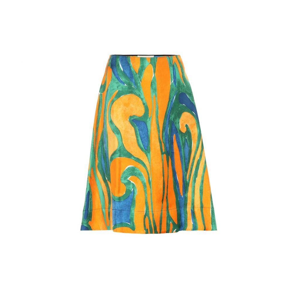 マルニ Marni レディース スカート ひざ丈スカート【Printed silk skirt】Alkekengi