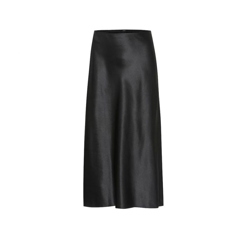 ジョゼフ Joseph レディース スカート ひざ丈スカート【Frances silk-satin midi skirt】Black