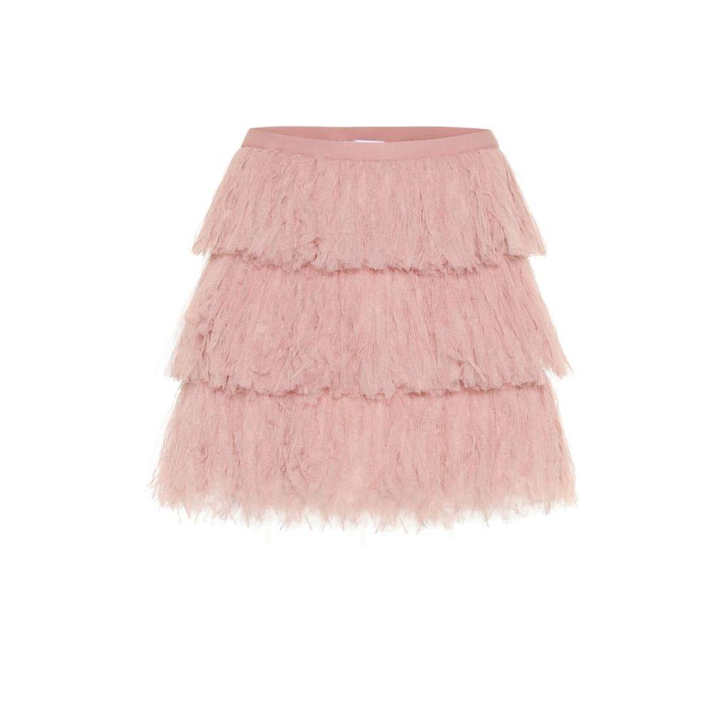 レッド ヴァレンティノ REDValentino レディース スカート ミニスカート【Tiered tulle miniskirt】Nude