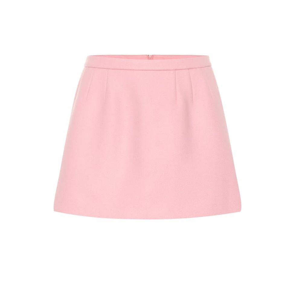 レッド ヴァレンティノ REDValentino レディース スカート ミニスカート【Wool and cashmere-blend miniskirt】rosa