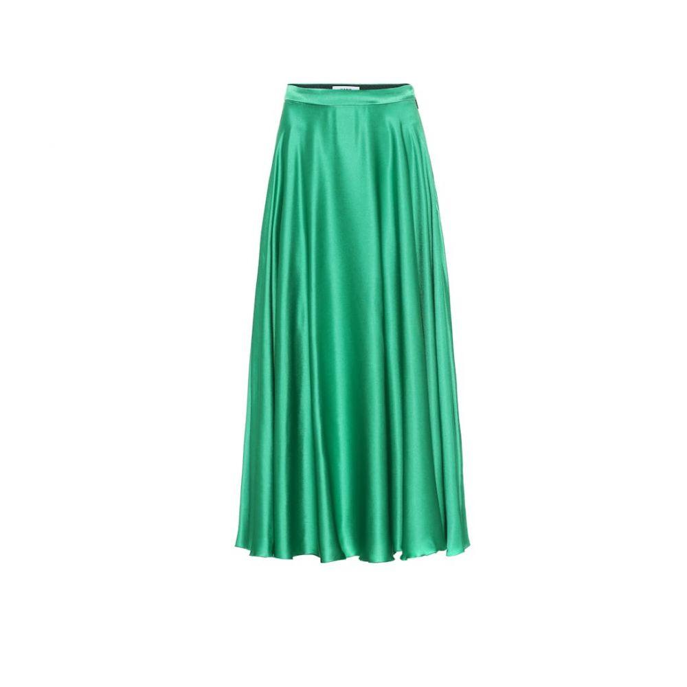 エムエスジーエム MSGM レディース スカート ロング・マキシ丈スカート【Silk-blend satin maxi skirt】