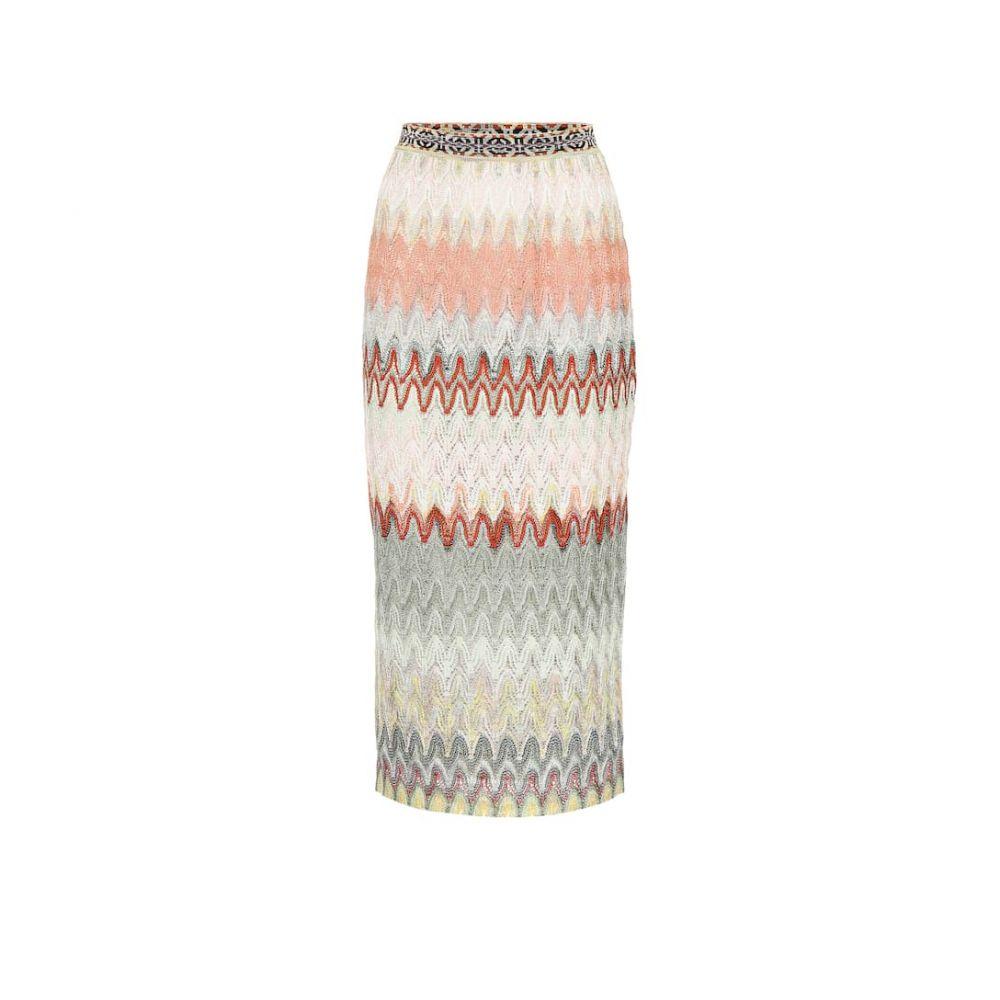 ミッソーニ Missoni レディース スカート ひざ丈スカート【Striped knit midi skirt】