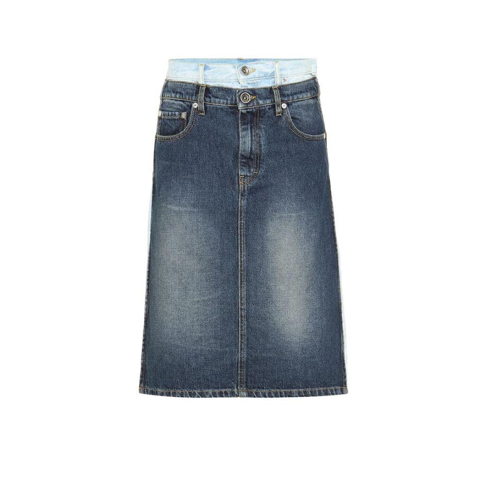 メゾン マルジェラ Maison Margiela レディース スカート ひざ丈スカート【Layered denim skirt】Blue Denim
