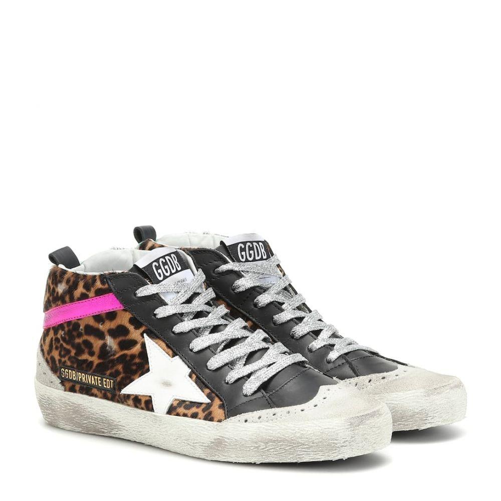 ゴールデン グース Golden Goose レディース シューズ・靴 スニーカー【Mid Star calf hair sneakers】MYT-Pony Leopard-Acquamarine L