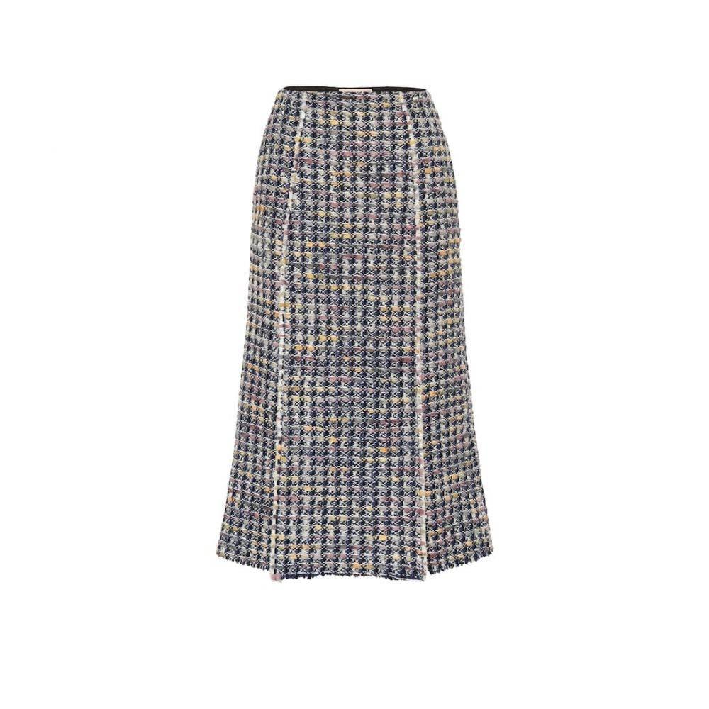 ブロック コレクション Brock Collection レディース スカート ひざ丈スカート【Pietraluna wool-blend skirt】Blue