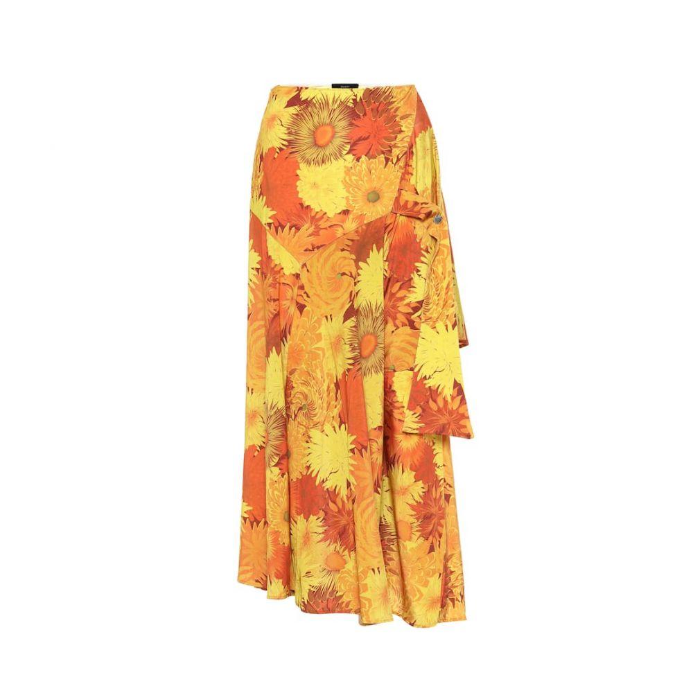 エラリー Ellery レディース スカート ひざ丈スカート【Faintest Sound floral midi skirt】Orange Floral