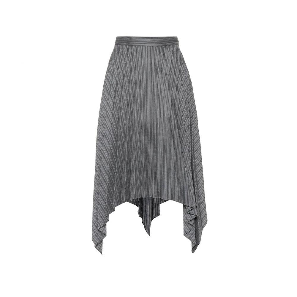 アクネ ストゥディオズ Acne Studios レディース スカート ひざ丈スカート【Pleated asymmetric wool-blend skirt】Black/Beige