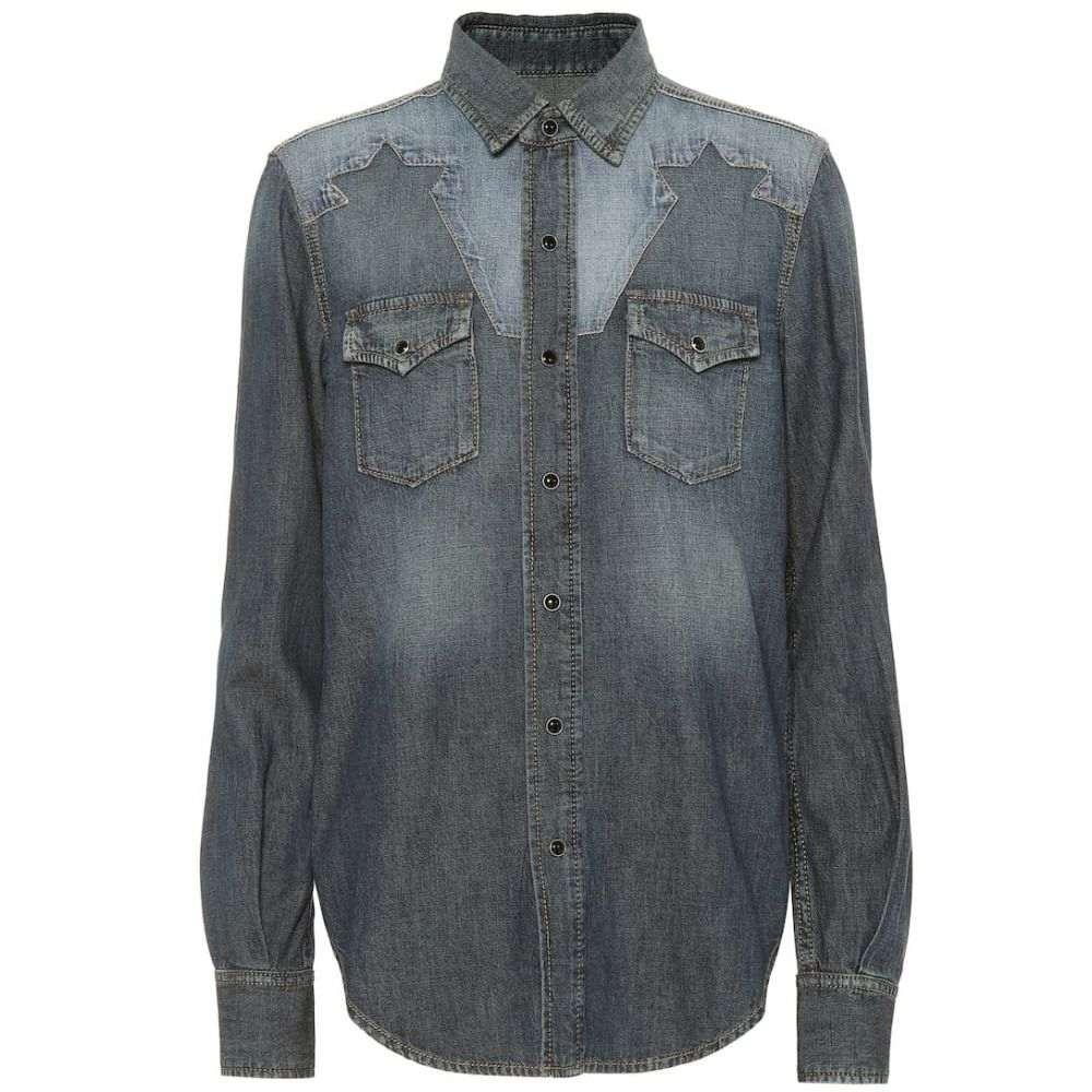 イヴ サンローラン Saint Laurent レディース トップス ブラウス・シャツ【Denim shirt】Dirty Medium Vintage