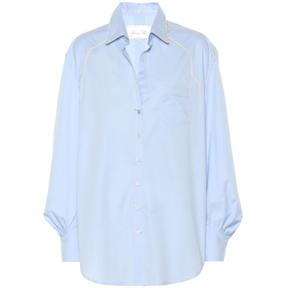 ジョアンナオッティ Johanna Ortiz レディース トップス ブラウス・シャツ【Heaven's Door poplin shirt】Men's Blue