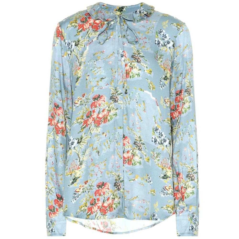 プリーン バイ ソーントン ブルガッジ Preen by Thornton Bregazzi レディース トップス ブラウス・シャツ【Aryanna floral satin blouse】Tapestry