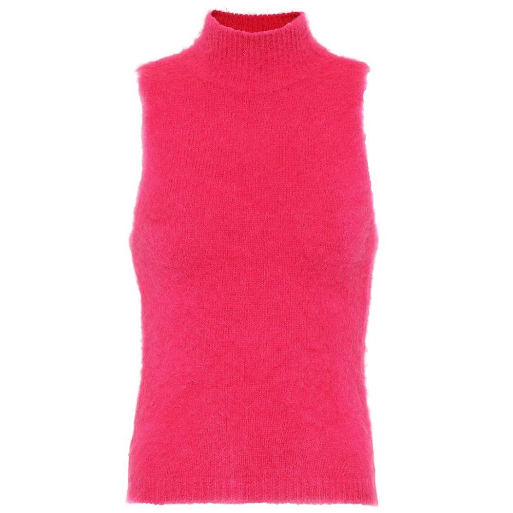 ヴェルサーチ Versace レディース トップス ノースリーブ【Mohair-blend sleeveless top】Fuxia