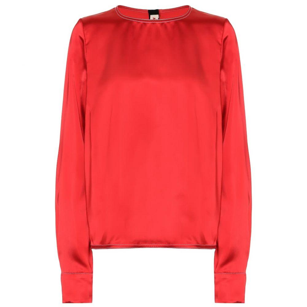 マルニ Marni レディース トップス ブラウス・シャツ【Satin blouse】Red