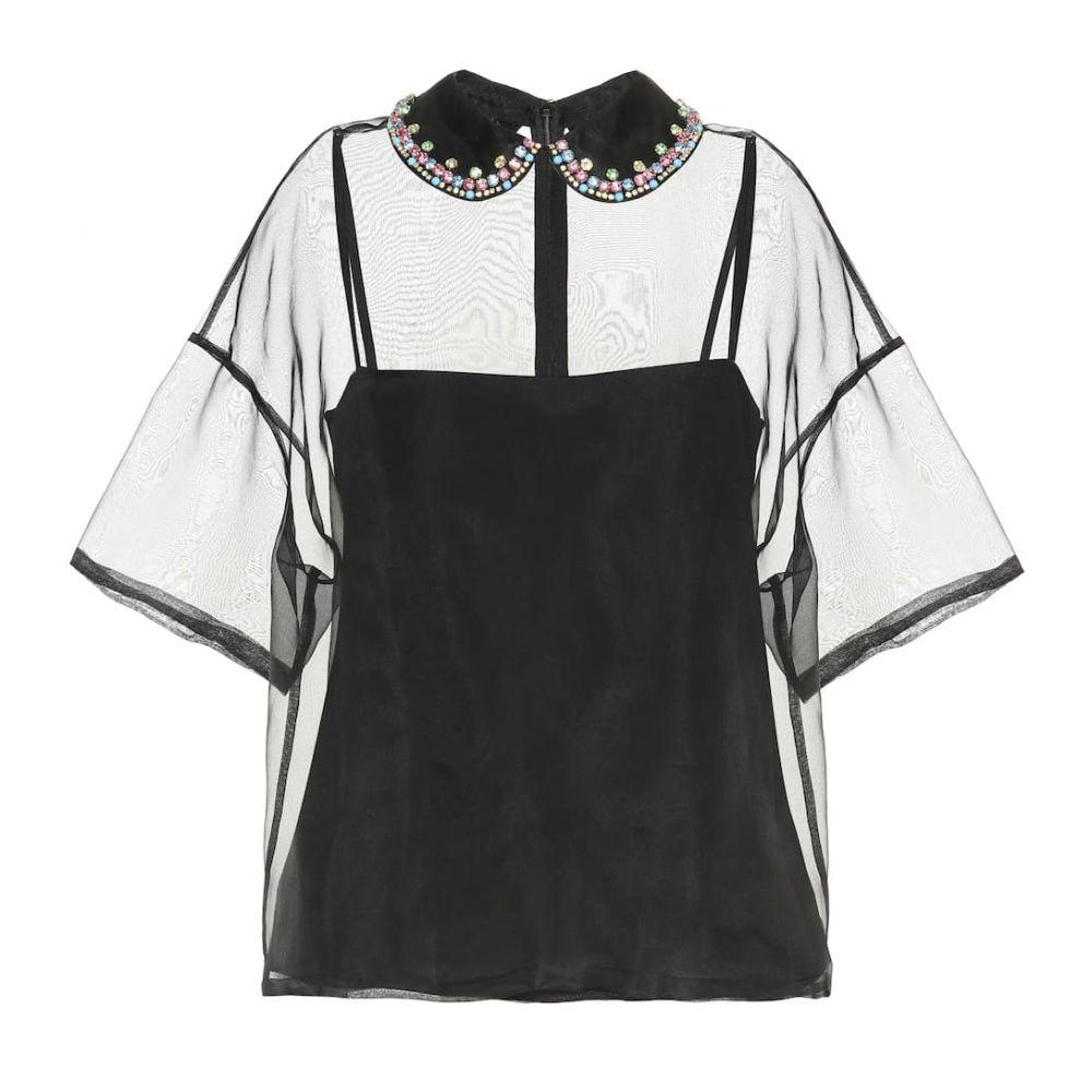 レッド ヴァレンティノ REDValentino レディース トップス ブラウス・シャツ【Embellished silk-organza blouse】black