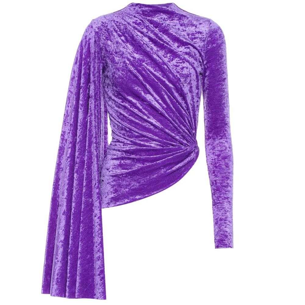バレンシアガ Balenciaga レディース トップス【Velvet top】Ultraviolet