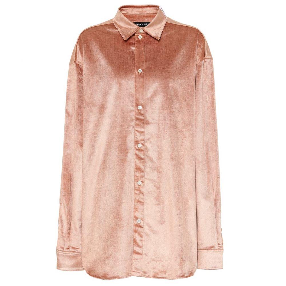 ワイプロジェクト Y/PROJECT レディース トップス ブラウス・シャツ【Velvet blouse】Dusty Pink