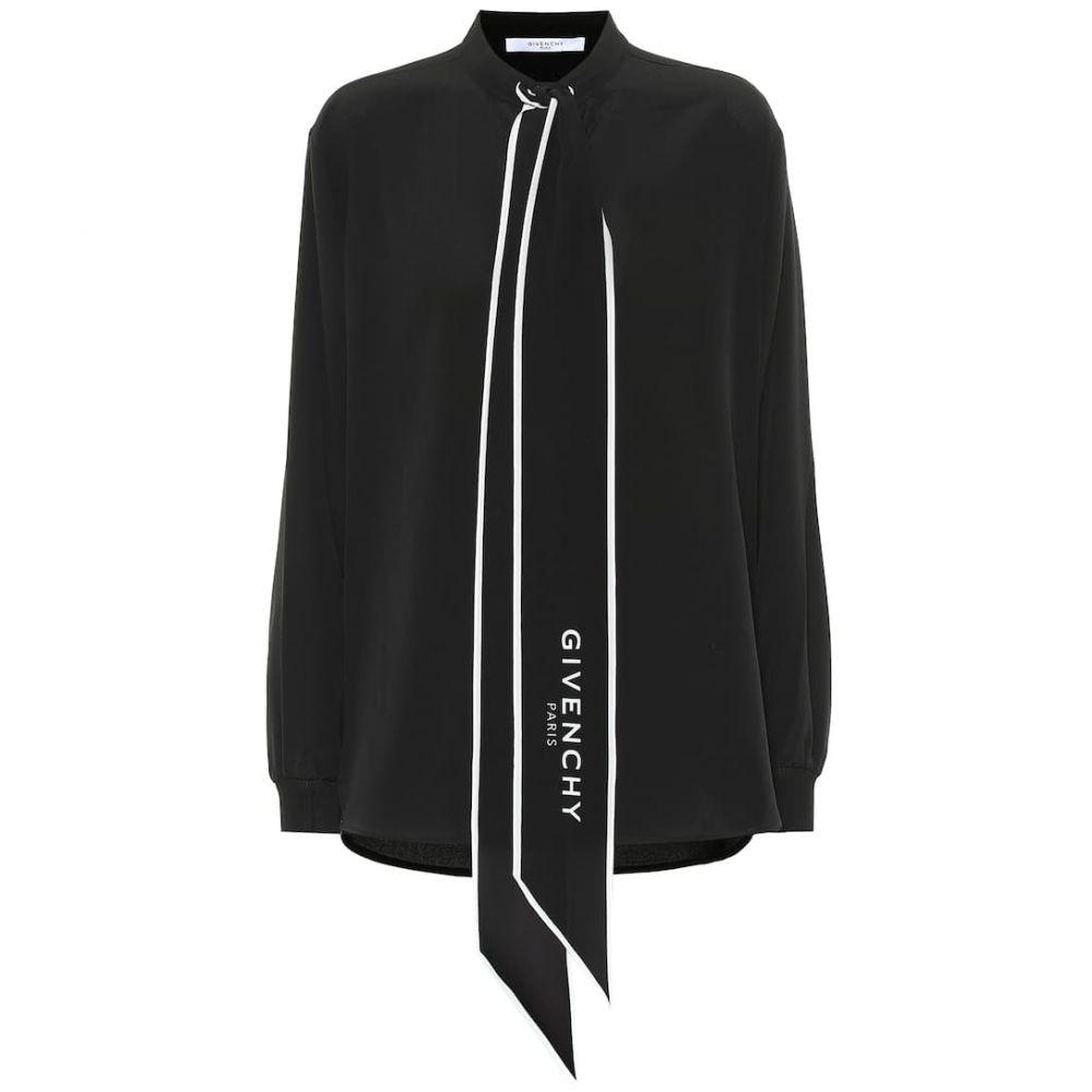 ジバンシー Givenchy レディース トップス ブラウス・シャツ【Silk shirt】Black