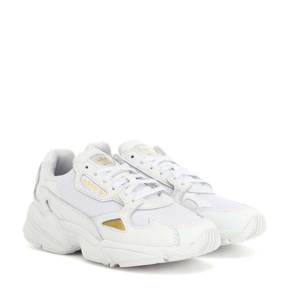 アディダス Adidas Originals レディース シューズ・靴 スニーカー【Falcon leather-trimmed sneakers】Ftwwht/ftwwht/Goldmt