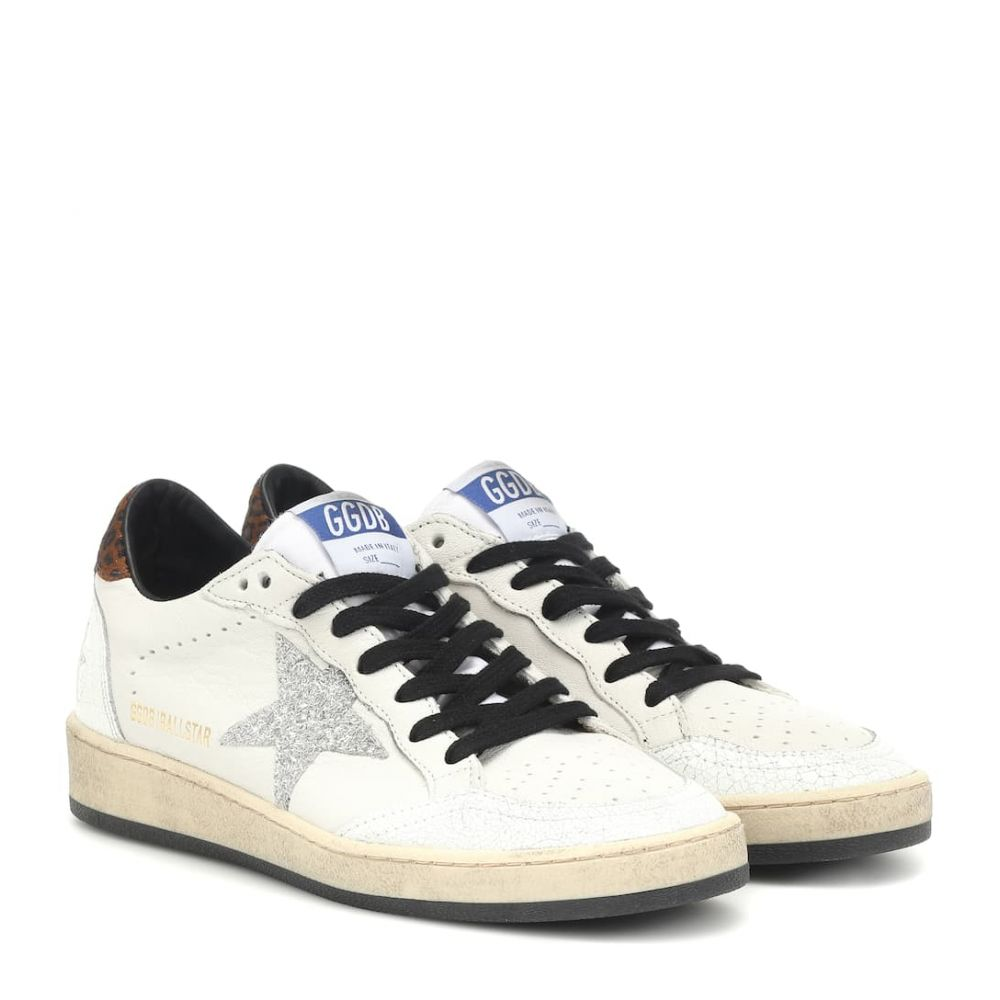 ゴールデン グース Golden Goose レディース シューズ・靴 スニーカー【Ball Star leather sneakers】White Animalier-Silver Glitter