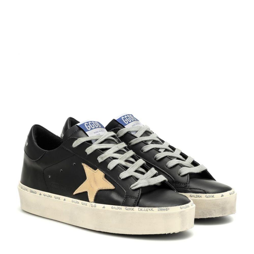 ゴールデン グース Golden Goose レディース シューズ・靴 スニーカー【Hi Star leather sneakers】Black-Gold Leather Star